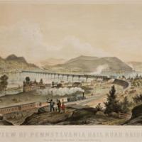 View of Pennsylvania Rail Road Bridge